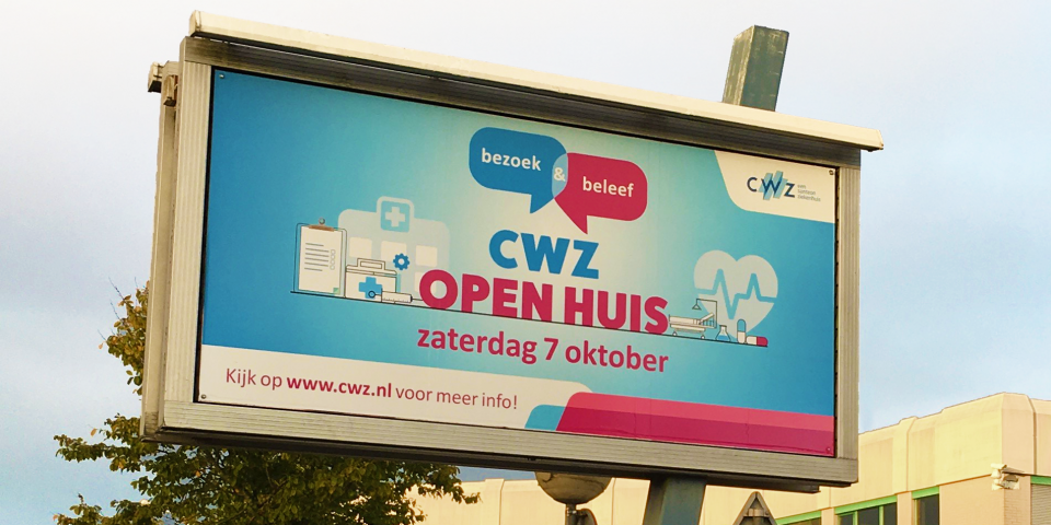 CWZ reclamebord wervingscampagne open huis