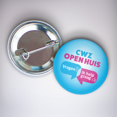 CWZ button wervingscampagne open huis