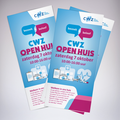 CWZ flyer wervingscampagne open huis