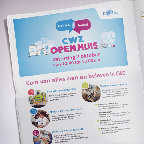 CWZ advertentie wervingscampagne open huis