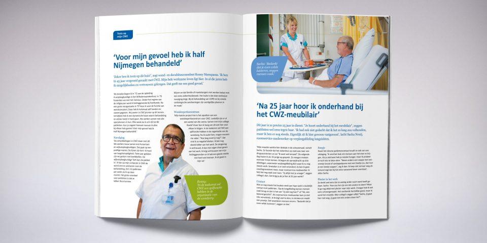 CWZ magazine spread open huis
