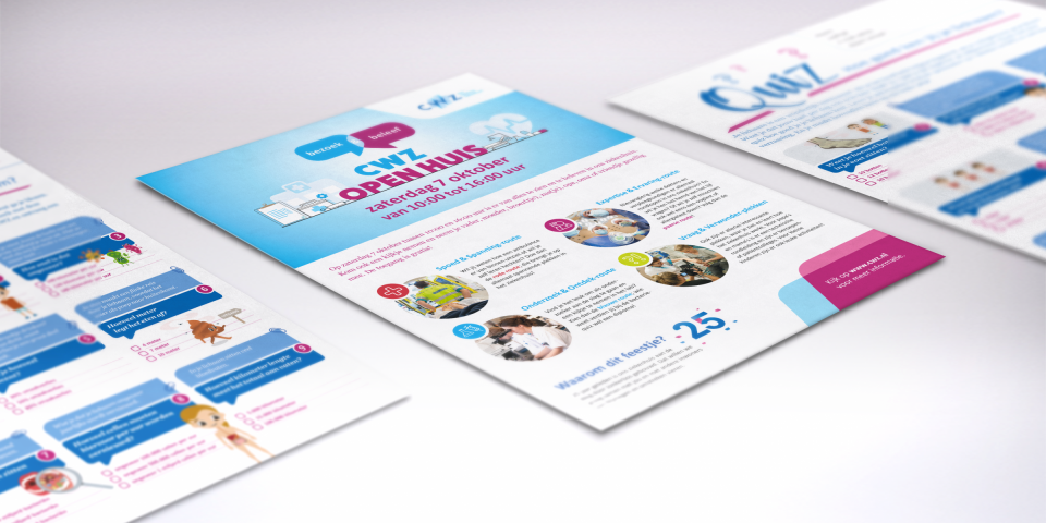 CWZ flyer wervingscampagne open huis routes