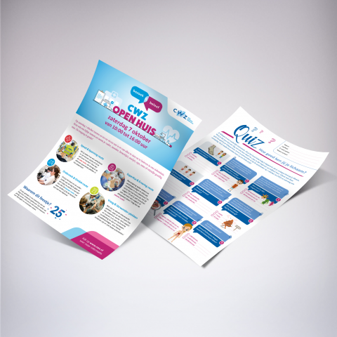 CWZ flyer wervingscampagne open huis quiz