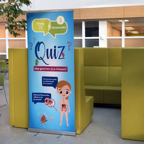 CWZ open huis roll-up banner quiz
