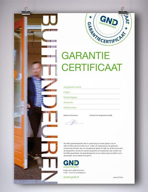 GND Garantiedeuren garantiecertificaat