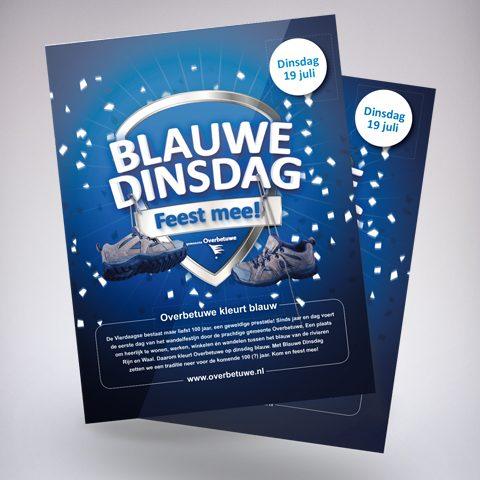 Blauwe Dinsdag - Poster - campagne: Gemeente Overbetuwe
