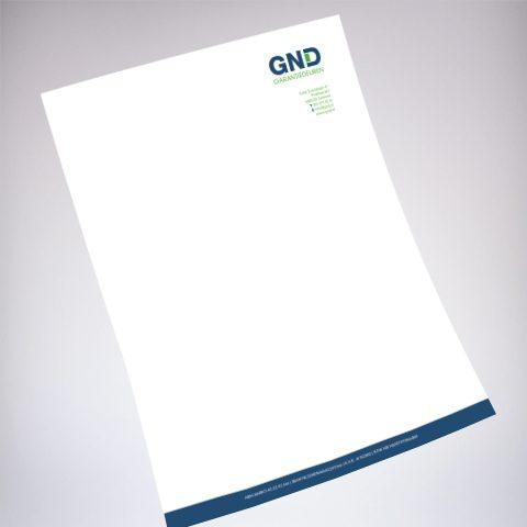 GND Garantiedeuren briefpapier